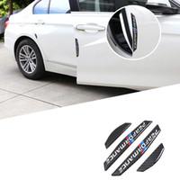 4шт двери автомобиля протектор углеродного волокна двери боковые наклейки автомобиля анти-столкновения полосы стикер для BMW E90 E46 F30 F10 X1 X3 X5 X6 GT Z4 F15 F16
