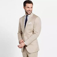 Formal Khaki Groom Tuxedos Men Suits for Wedding Two- Button ...