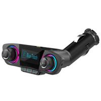 وزير الخارجية الارسال بلوتوث سيارة كيت يدوي A2DP AUX الصوت سيارة مشغل MP3 شاشة كبيرة عرض USB مزدوج الشحن