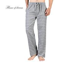 Novo 100% Algodão Macio Calças Plus Size Algodão Pijama Calças Dos Homens de Alta Qualidade Homens Sono Bottoms Manta De Microfibra