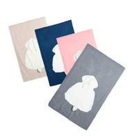 Baby Cute Rabbit Blanket Weiche Warme Wolle Swaddle Nette Saugfähige Kinder Badetuch Infant Bettwäschedecke