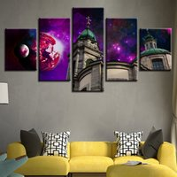 Framework Poster Modular Pictures Canvas 5 Pieces Abstract P...