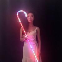 LED Danse béquilles Coloré rechargeable KTV Party salle de bal DJ Show accessoires de danse lumière accessoires pour les femmes enfants filles cadeaux chaussures robes