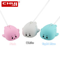 Wholesale ergonomic gifts for sale - 1600 DPI Wired Mouse Cute Mini Dolphin Shape USB Mouse