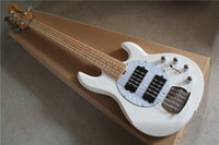 Sting Ray5 five- string electric bass white color piano body ...