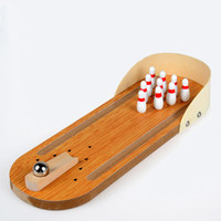 Children Wooden Mini Bowling Beneficial Wisdom Wooden Toys P...