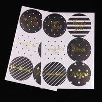 50 Pz / lotto Scrapbooking creativo Etichette Adesivo Forma rotonda Grazie Adesivi Fai da te per te Adesivi Ti amo Regalo Food Paper Seal Scrapbook