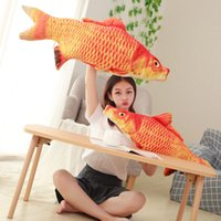 Red Carp Plush Toy Stuffed Fish Soft Toy 11. 7in. - 31. 2in. Lif...