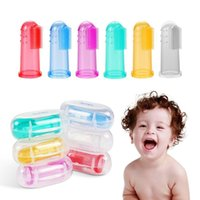 Baby Finger Toothbrush with box Children Teeth Clear Massage...