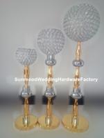 neue Produkte online, Luxus Kristall Perlen Hochzeit Aisle Säule für Hochzeiten Dekor