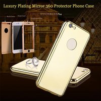 Electroplated Mirror 360 Degree Full Body Case pour iPhone XS XR MAX 8 7 6 6S Plus X Case Dur