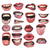 20 piezas Lip Photo Booth Apoyos en Sticks DIY Funny Mouth Realistic Party Graduation Props al por mayor
