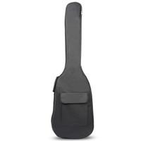 ABDB-черный водонепроницаемый двойной ремни Bass Рюкзак Gig сумка для электрический бас гитары 5мм Толщина губки проложенный