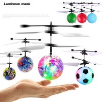 RC Flying Ball Drone LED Light Infrared Induction Crystal Fl...