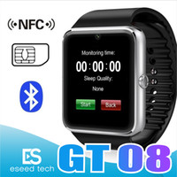 GT08 Bluetooth Smart Watch with SIM Card Slot and NFC Health...