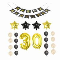 30/40/50 / 60th Happy Birthday Party Bunting Banner Numero Balloon Party Decor FAI DA TE