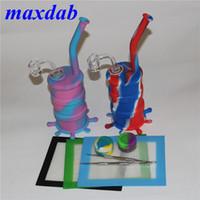 Coloré Hookahs silicone Bangs en verre downstem plate-forme de la limande de la conduite d'eau de silicone 14 mm joint tous les clous de quartz mâles épaisseur 14mm Clear