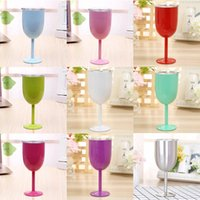 9 colors 10OZ wine mugs double wall 304 stainless steel vacc...