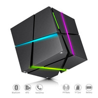 Qone Mini Cube Speakers 3D Stereo Som Speaker Portátil Bluetooth Wireless Music Box Apoio TF Com Retail Box Melhor Carga 3