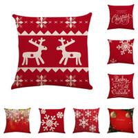 Cuscino di Natale o un'immagine Piazza caso del modello Toss federa Hidden chiusura a cerniera Cuscini Natale federa Decor