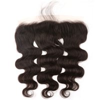 Frontal Closure 13x4 Bleached Knots Body Wave Hair Weaves Mo...