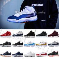 무료 배송 New 남성 신발 11s 11 마이애미 허리케인 농구 신발 남성 11s 그린 오렌지 스니커즈 미국 5.5-13 Eur 36-47 상자와 함께