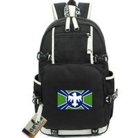 Citizen backpack Terran Federation day pack جودة حقيبة مدرسية packsack متينة حقيبة ظهر كمبيوتر محمول حقيبة مدرسية رياضية خارج الباب daypack