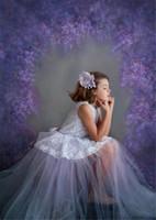 Digital Printing Fiori di lavanda viola fondali fotografia vinile neonato foto prop principessa ragazza studio fotografico sfondo