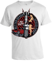 Melhor Faísca Speed ​​Shop T-Shirt Mens Womens presente de natal retro car pin up