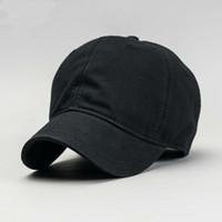 Beckyruiwu Najwyższej Jakości Big Head Man Hat Mężczyzna Czysta Bawełna Solidne Kolor Słońce Czapki Mężczyźni Plus Size Waseball Cap 56-61cm