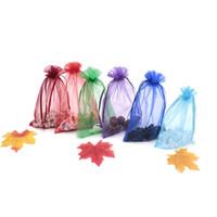 300 шт./лот, 13x18 см 15 цветов Drawable органзы сумки свадьба Рождественский подарок сумки ювелирные изделия упаковка органзы сумки мешки