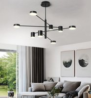 Modern LED chandelier living room pendant lamp bedroom sitti...