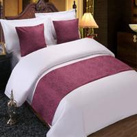 Home Hotel Dekor Floral Bettdecke Läufer Bettwäsche Einzel-Queen-Kingsize-Bett Abdeckung Handtuch Weinrot