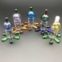 Идеальный красочные стекла Carb Cap с carb cap стенд держатель для кварцевые сосиски dab ногтей нефть Rig стекло воды бонг трубы бесплатная доставка