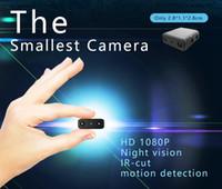 Cámara IR-CUT inteligente Cámara 1080P FULL HD más pequeña XD Mini Videocámara Micro infrarrojo Visión nocturna Cámara de detección de movimiento DVR para coche