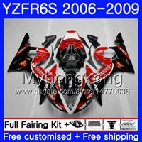 Body For YAMAHA Santander red new YZF R6 S R 6S YZF600 YZFR6S 06 07 08 09 231HM.21 YZF-600 YZF R6S YZF-R6S 2006 2007 2008 2009 Fairings Kit