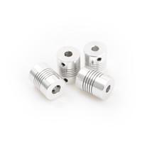 ID3 4 5 6 7 8 9 6.35 10 millimetri D19 * L25 alluminio CNC motore passo a passo Albero flessibile Giunto accoppiatore Encoder macchina per incidere
