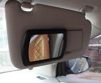 차 차양 판 화장 용 거울 내부는 금속 클립 아 BS + 유리를 가진 숙녀를위한 거울을 구성합니다