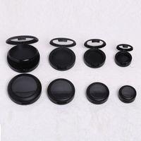 36 mm negro de plástico en polvo de sombra de ojos compacto, 44 mm elegante de alto clase Blusher en caja, herramienta de maquillaje profesional F1056