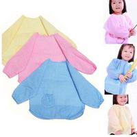 Aconchegante bebê bonito ToddLer crianças crianças manga longa impermeável arte blusa babador avental