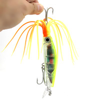 INFOF 6 STÜCKE 14 cm 42g ABS kunststoff big game fishing lockt krake tintenfisch jig bart fischköder pike bass pesca angelgeräte