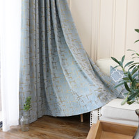 Modern Geometric Window Curtain Chenille Jacquard 2 Colors S...