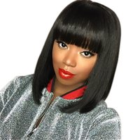 12inch Straight Heat Resistant Short Bob Hair Wigs with Flat...