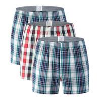 M-6XL 망 속옷 복서 반바지 캐주얼 코튼 잠 잠옷 품질 격자 무늬 느슨한 편안한 Homewear 스트라이프 애로우 팬티