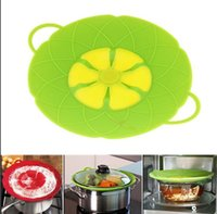 Newest Flower Petal Boil Spill Stopper Silicone Lid Pot Lid ...