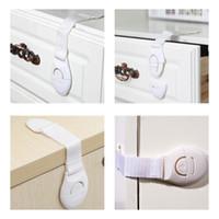 Seguridad para niños Cerraduras con correa para gabinetes de refrigerador Cajones Lavavajillas Adhesivo de inodoro sin perforación
