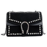 Luxury Brand Rivet Chain Casual Shoulder Bag for Women Famou...