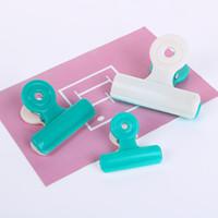 새 캔디 색상 플라스틱 Dovetail 클립 종이 문서 주최자 바인더 클립 학교 오피스 액세서리 임의 색상