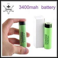 2018 Novo NCR18650B Bateria 3.7 V 18650 Bateria De Lítio Li-on Celular 3400 mAh Flat Top apto a qualquer mods de cigarro eletrônico por epacket