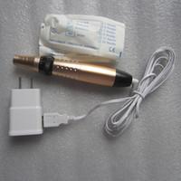 Vida portu elektrik derma kalem makinesi çatlakları kaldırma kalem cilt gençleştirme kırışıklık giderme / akne sökücü
